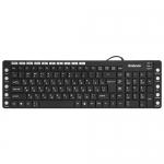 Клавиатура проводная Defender OfficeMate MM-810 RU, черный